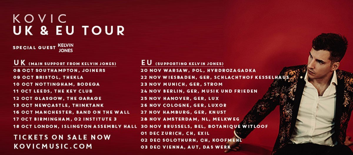 Kovic Tour October November 2019