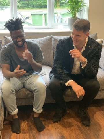 Kovic and Kelvin Jones Having a Laugh